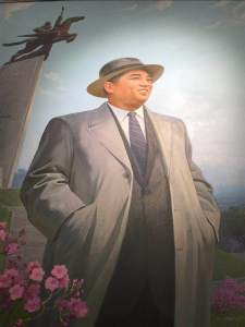 Kim Il Sung painting with Chollima