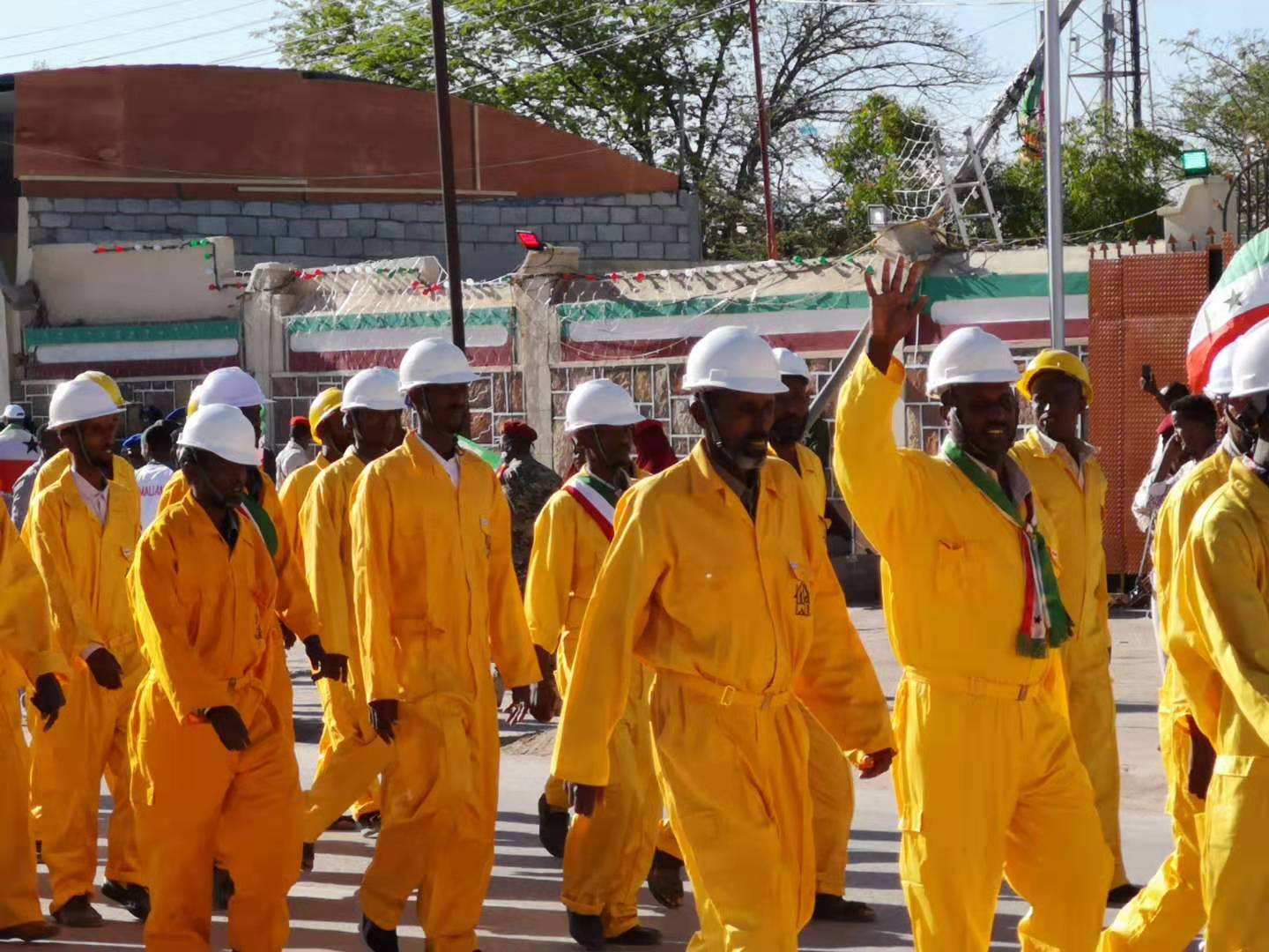 Electricians in the Somaliland Independence Day Parade