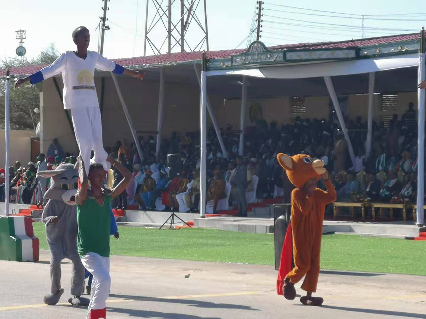 Acrobats in the Somaliland Independence Day Parade