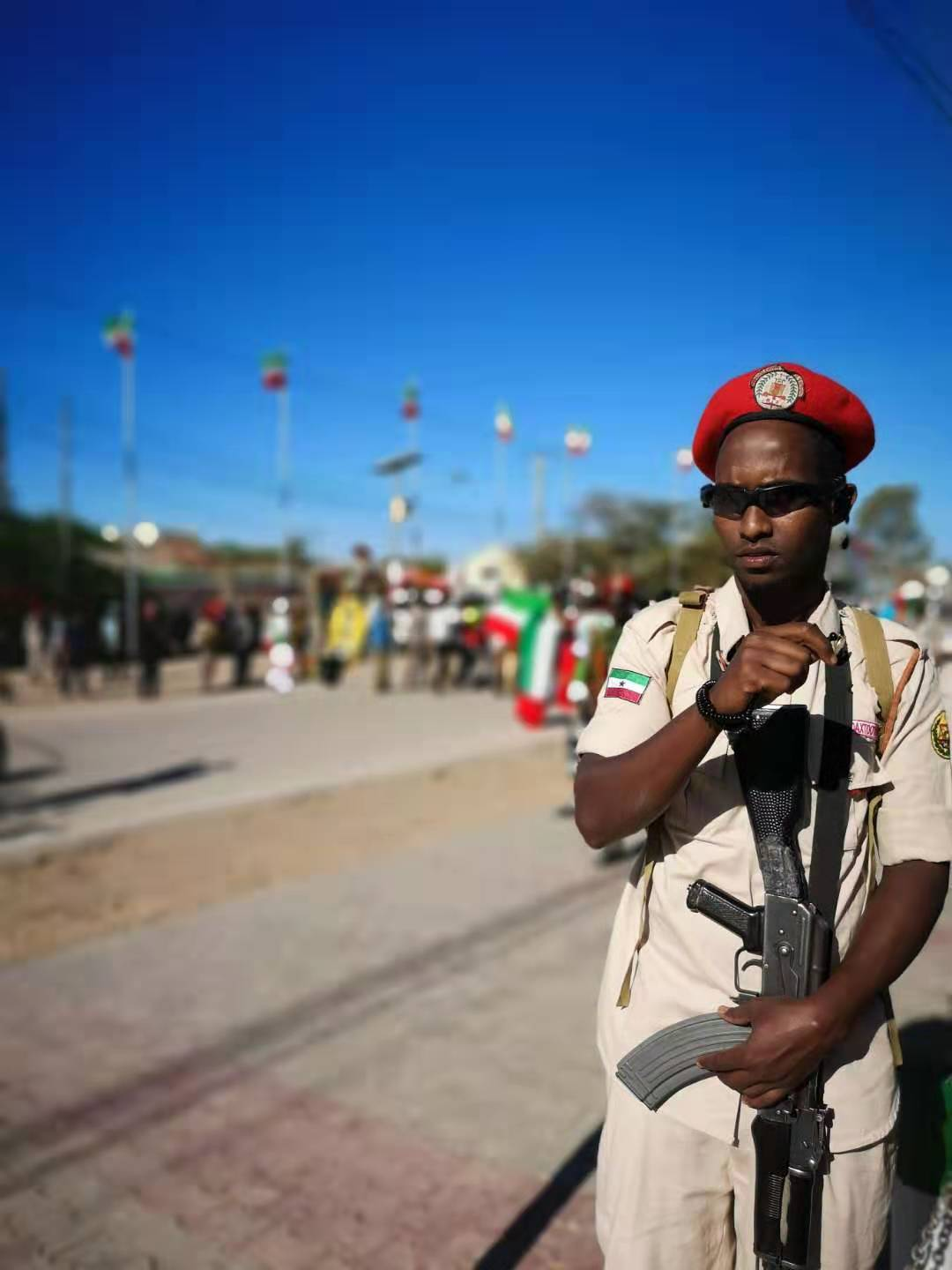 Guard during the Somaliland Independence Day Parade