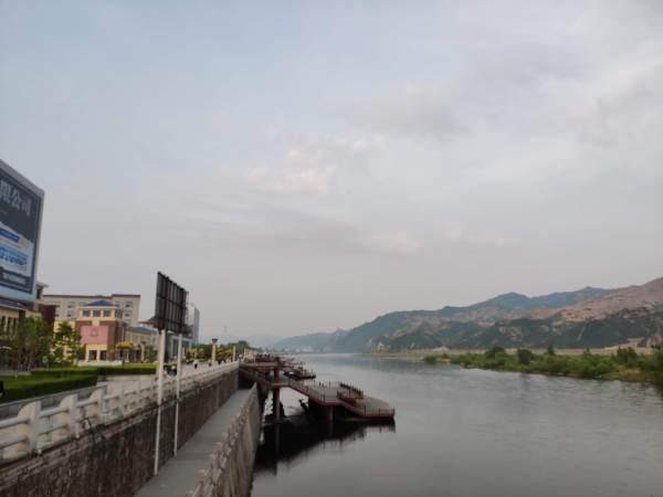 Views across the Tumen river between China and North Korea
