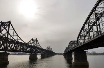 Get through customs of North Korea The Dandong Sinuiju Friendship bridge
