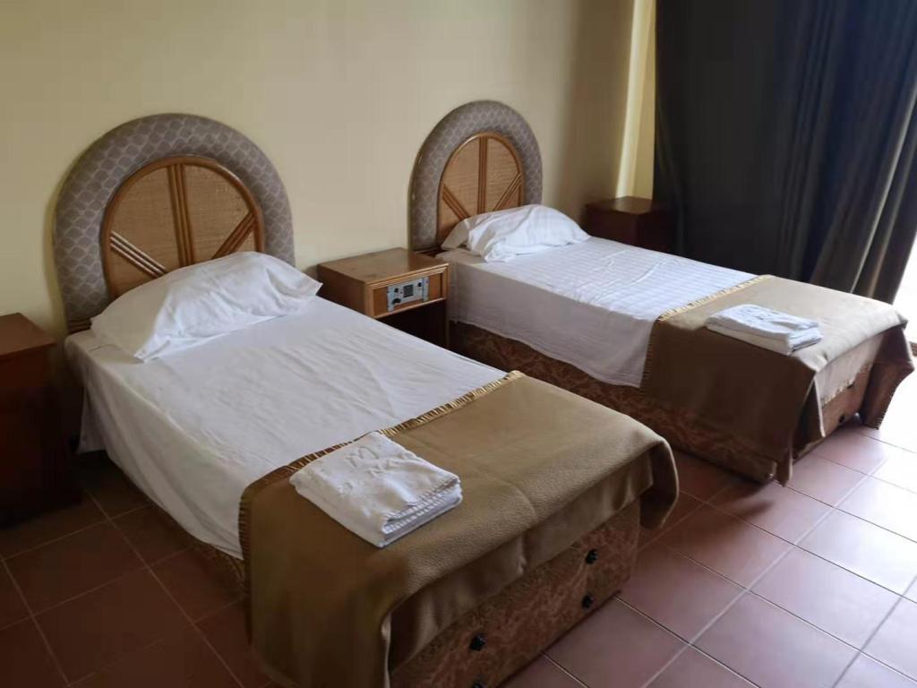 The beds of the Menen Hotel in Nauru