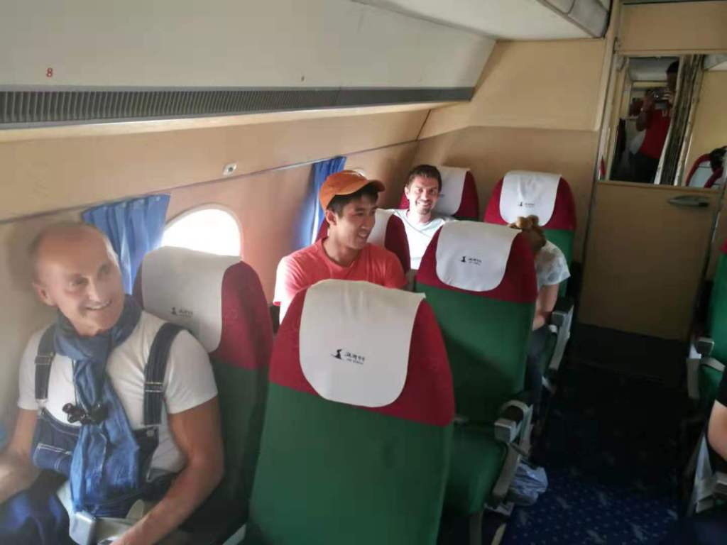 The inside of our Antonov plane taking us to Mount Peakdu during the Pyongyang Korean Language Study Tour