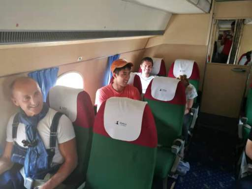 The inside of our Antonov plane taking us to Mount Peakdu during the Pyongyang Korean Language Study Tour