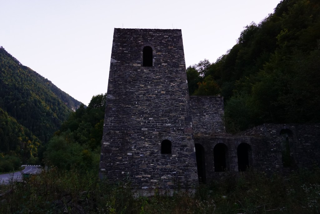 A war site in South Ossetia