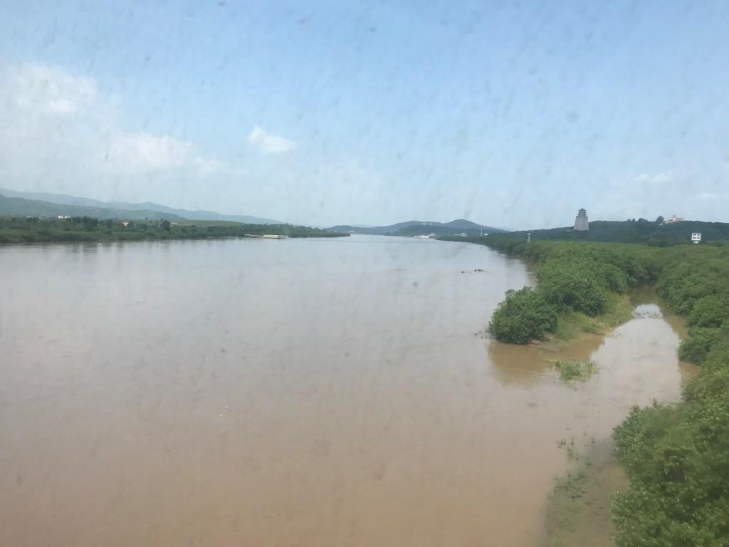The river Tumen at the North Korea Russia border crossing.