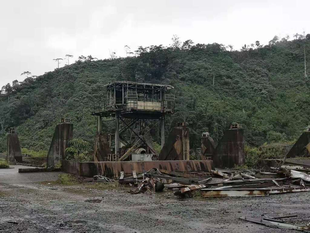 ruins of the Panguna Mine in Bougainville