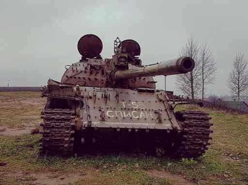 A tank sits abandoned in South Ossetia.