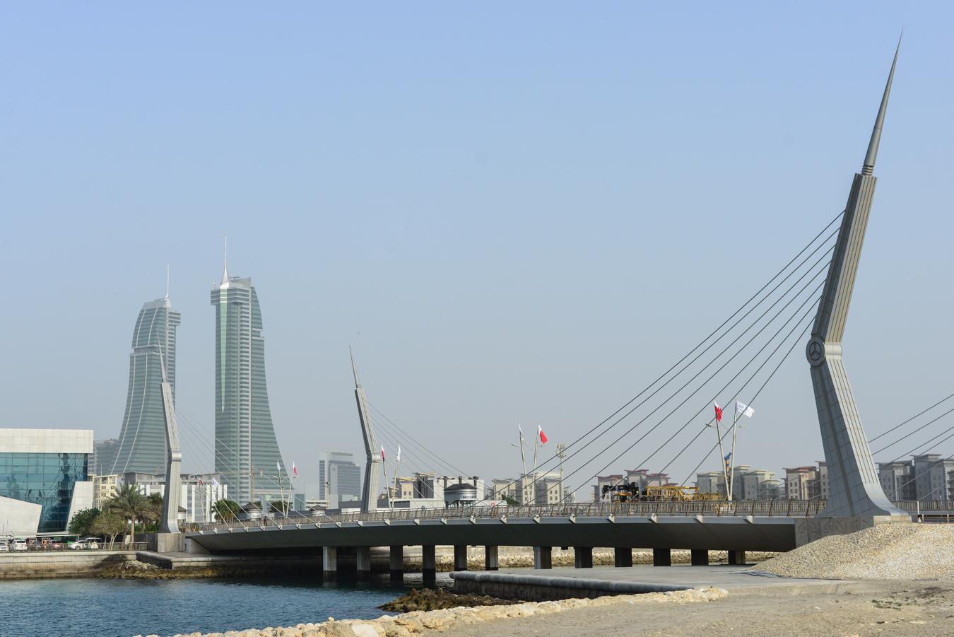A bridge in Bahrain