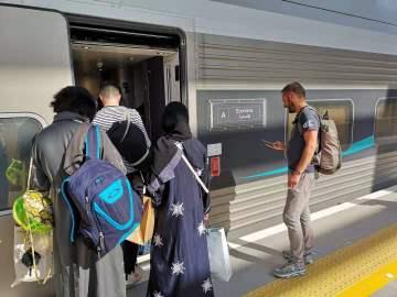 Getting the train in Saudi Arabia