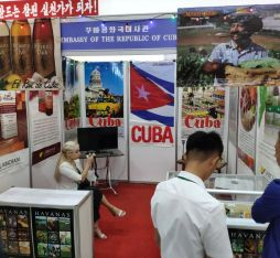 Cuba's booth at a North Korean exhibtion