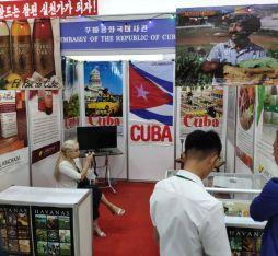 Cuba's booth at a North Korean exhibtion