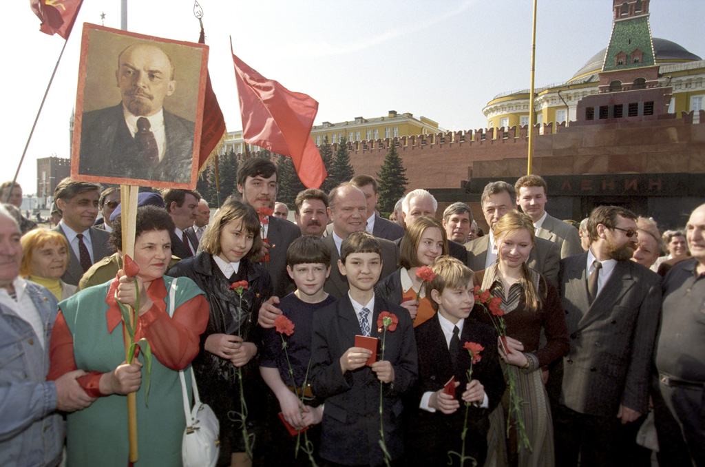 Demonstration of the CPRF, including a portrait of Lenin, the founder of the first of the socialist countries of the world. Idolized by what countries have been communist.