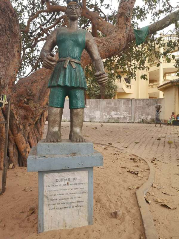 The slave auction square or Chacha square