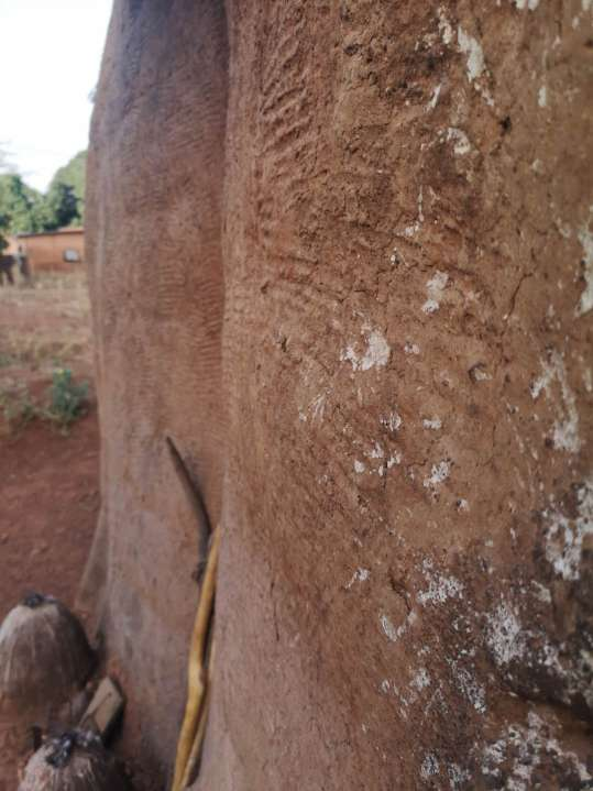 The wall of the mud-house of Benin and Togo