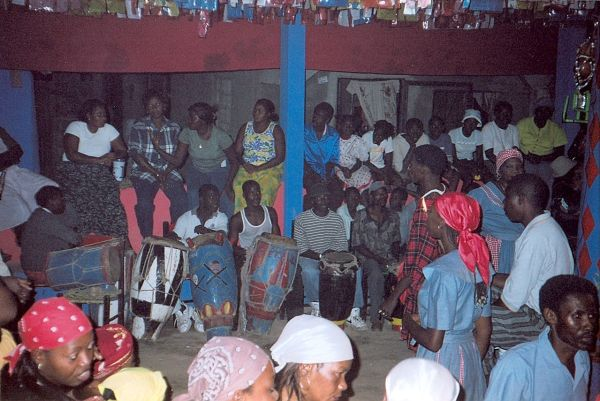 A ceremony of voodoo in Haiti