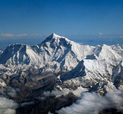 Mount Everest as seen from a Druk Air flight to get to Bhutan