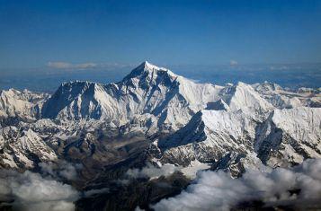 Mount Everest as seen from a Druk Air flight to get to Bhutan