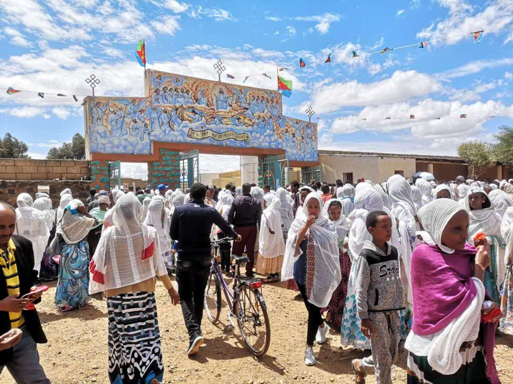 A religious festival in Asmara, capital of Eritrea