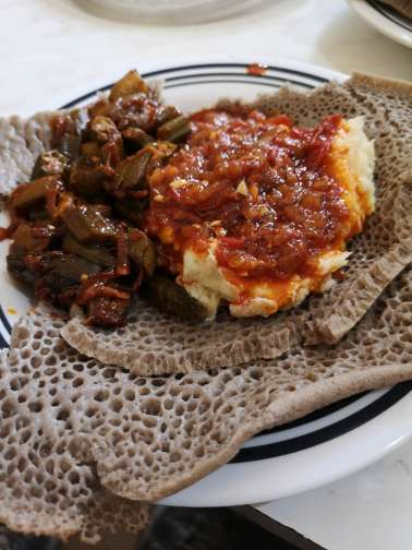 Eritrean food in Asmara