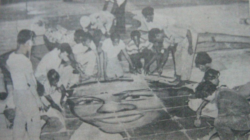 Kim Il-Nam (left) helping to organise the first Guyana mass games
