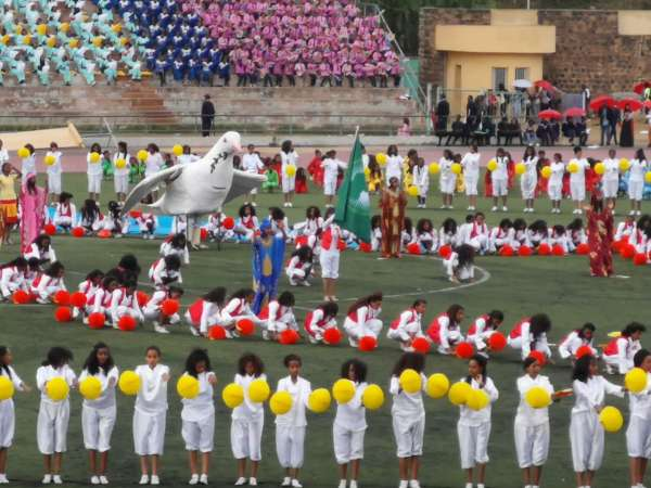 The independence day performance in Asmara, Eritrea