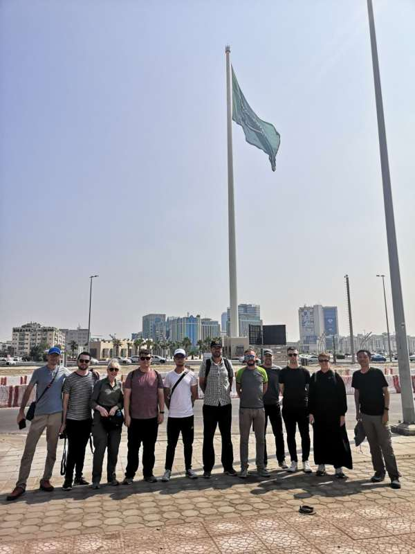 The world's tallest flagpole in Jeddah, Saudi Arabia