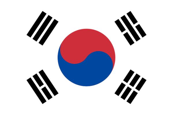 The design of the flag of South Korea