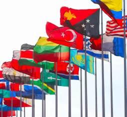 Flagpoles around the world
