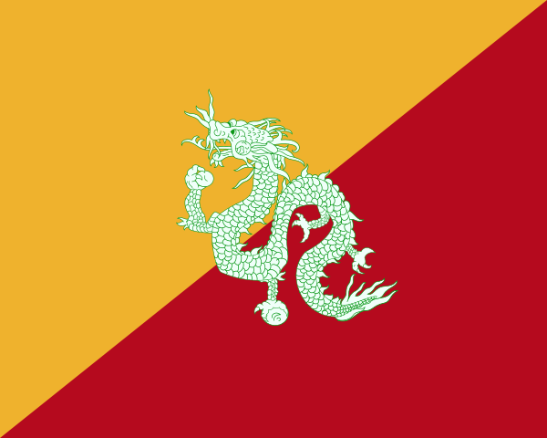 First concept of the Bhutanese flag