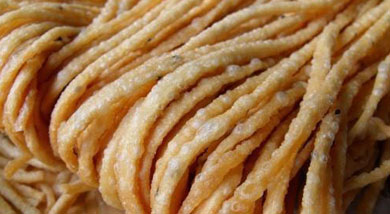 Sazi a type of crunchy fried dough