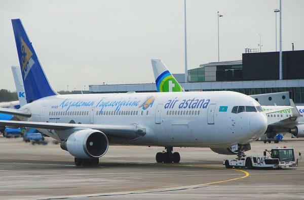 Air Astana Plane, one of the national airlines of Central Asia