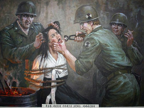 A north korean painting of the Sinchon Massacre