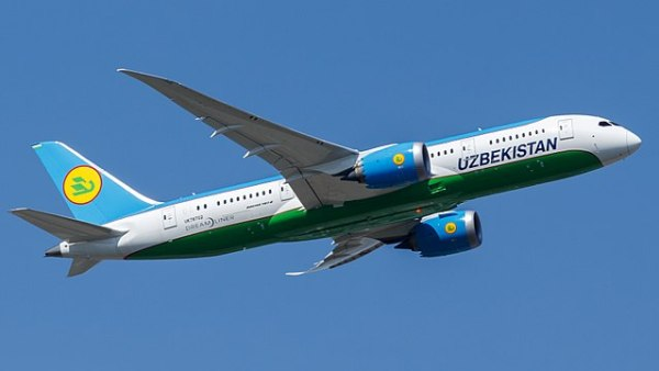 Uzbekistan Airways plane, part of the  National Carriers of Central Asia