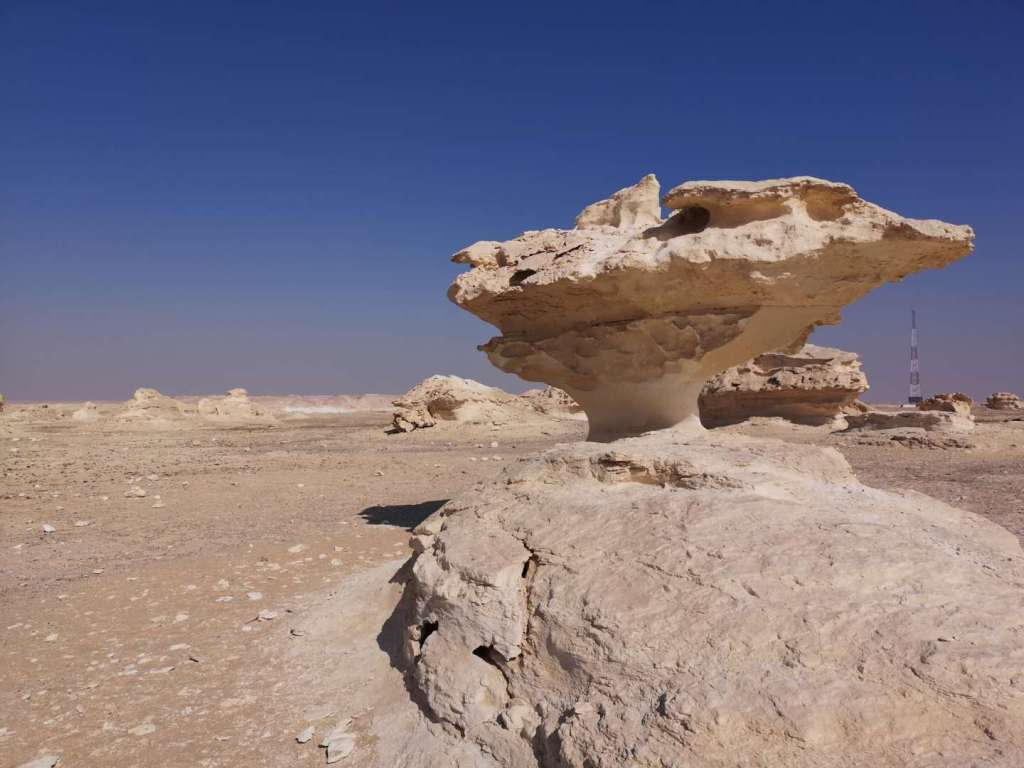 The formation of the White Desert of Egypt