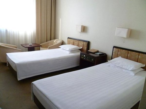 A twin room in the Yanggakdo hotel, the most famous hotel of North Korea
