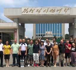 Our group studying in North Korea as part of the Pyongyang Study Tour