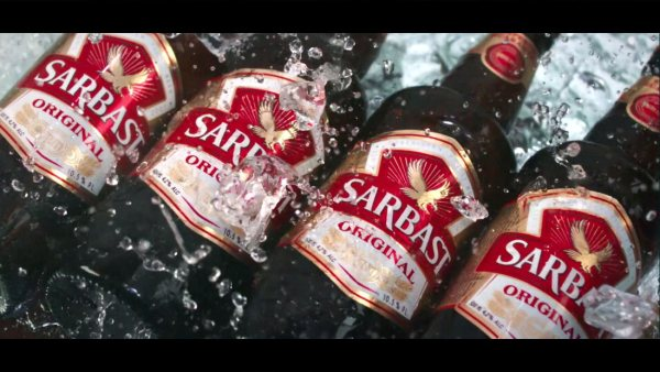 Sarbast the most famous beer of Uzbekistan and a central asian beer