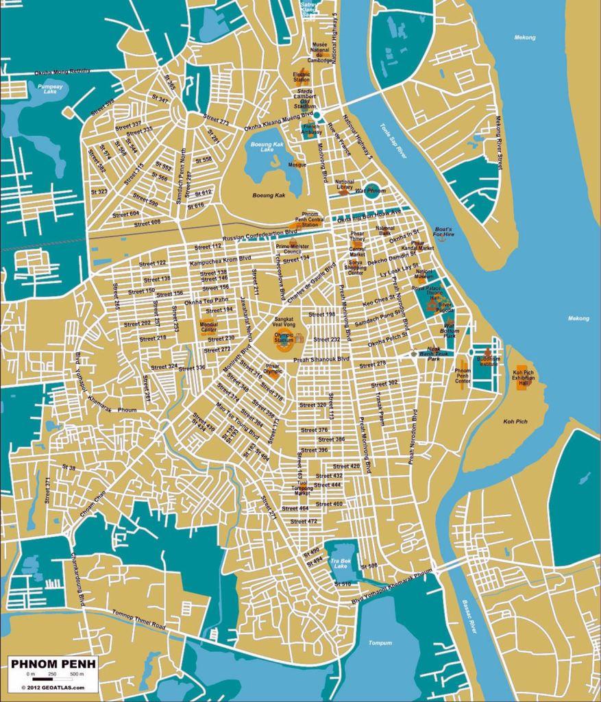 Phnom Penh Cambodia Map