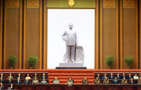 Mansudae Assembly Hall statue