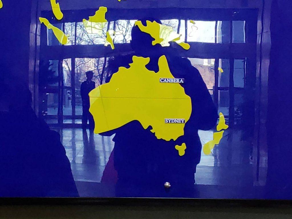 North Korea Australia Map