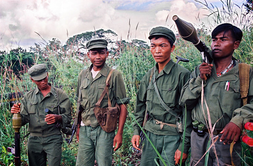 Khmer Rouge guerrillas