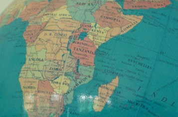 globe Tanzania map