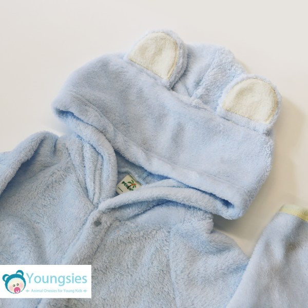 Blue bear kids onesie