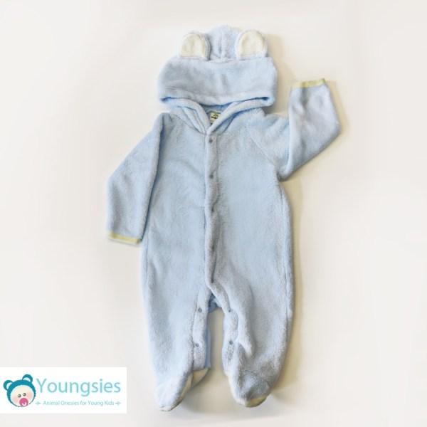 Blue Bear Baby Animal Romper Suit