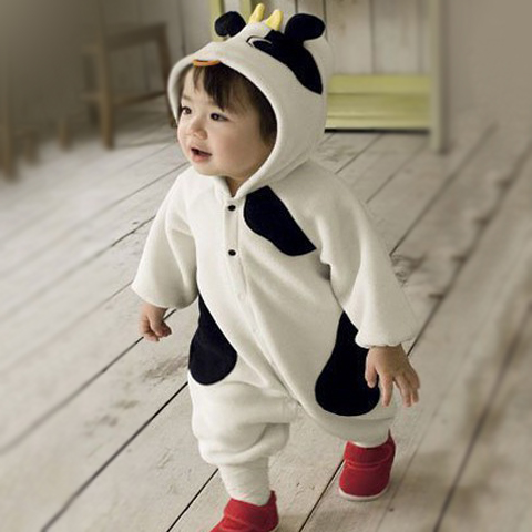cow onesie costume for toddler and baby