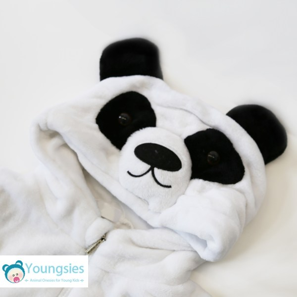 Toddler Panda romper suit face hood