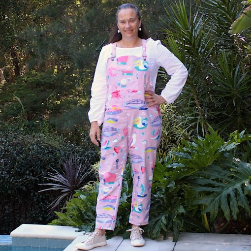 ladies cotton overalls with pockets