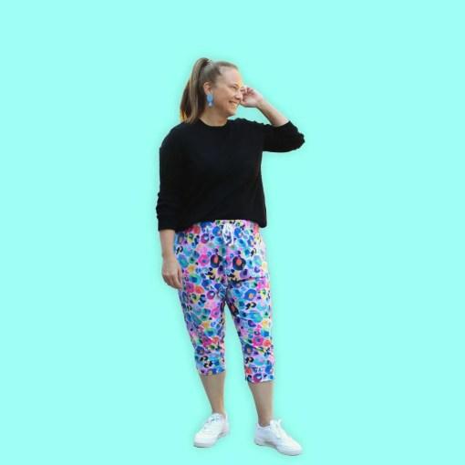 leopard print joggers for women